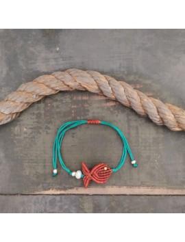 Macrame fish bracelet