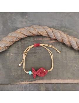 Macrame fish bracelet-Gold