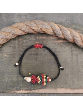 Macrame fish bracelet-Black