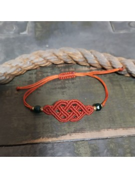 Celtic macrame bracelet-Red