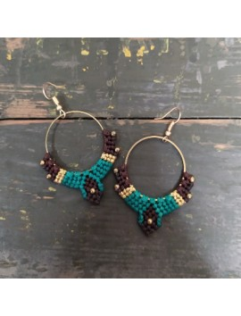 Macrame earrings 1