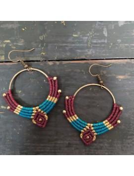 Macrame earrings 3